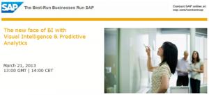 SAP Visual intelligence Webinar